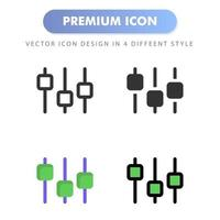 ícone do equalizador para o design de seu site, logotipo, aplicativo, interface do usuário. ilustração de gráficos vetoriais e curso editável. ícone do projeto eps 10. vetor