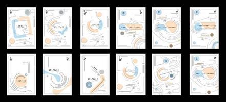pacote de design de capa de folheto e cartaz em ilustração de modelo de tamanho A4. vetor