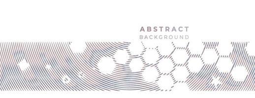 bandeira de formas geométricas de promoção tecnológica abstrata, pano de fundo de tecnologia de padrão de estrutura. vetor