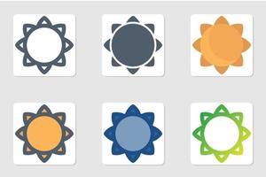 ícone de girassol em isolado no fundo branco. para o design do seu site, logotipo, aplicativo, interface do usuário. ilustração de gráficos vetoriais e curso editável. eps 10.