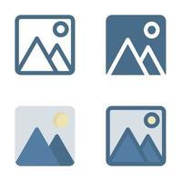 ícone de imagem em isolado no fundo branco. para o design do seu site, logotipo, aplicativo, interface do usuário. ilustração de gráficos vetoriais e curso editável. eps 10. vetor