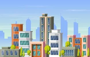edifício arquitetura construção paisagem urbana horizonte negócios ilustração
