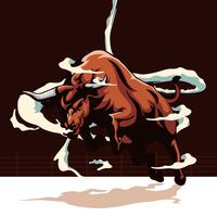 Ilustração de touro vetor