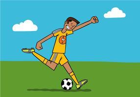 jogador de futebol vetor