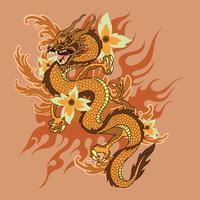 Tatuagem de dragão vetor