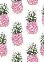 padrão sem emenda de abacaxi design moderno vintage
