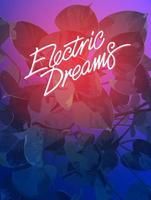 fundo sonho elétrico trópico de folha de araceae