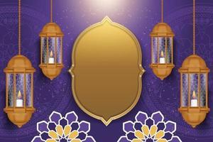 fundo ramadan kareem com estilo realista vetor