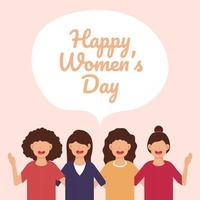 banner feliz dia internacional da mulher vetor