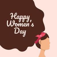 feliz dia internacional da mulher design de cabelo vetor