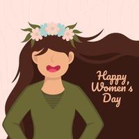 design do feliz dia internacional da mulher vetor