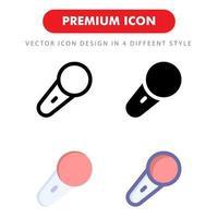 pacote de ícones de microfone isolado no fundo branco. para o design do seu site, logotipo, aplicativo, interface do usuário. ilustração de gráficos vetoriais e curso editável. eps 10. vetor