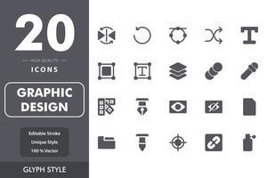 pacote de ícones de design gráfico vetor