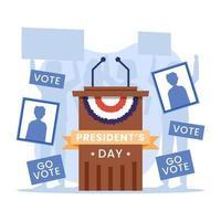 conceito de eleição estados unidos da américa vetor