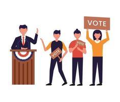 conceito do dia da eleição do presidente dos estados unidos da américa vetor