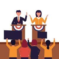 estados unidos da américa, conceito de debate presidencial vetor