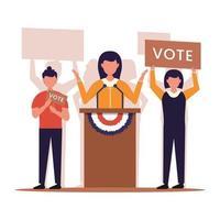 conceito de eleição presidencial nos estados unidos da américa vetor