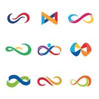 Logotipos coloridos do infinito vetor