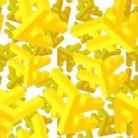 Projeto de padrão de objeto de repetição de perspectiva 3D vetor