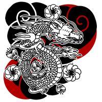 Tatuagem japonesa do dragão vetor