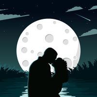 Ilustração de Spacescape da lua
