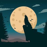 Ilustração de Spacescape da lua vetor