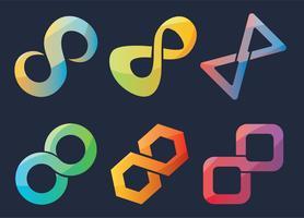 Vetor de símbolo de infinito gradiente