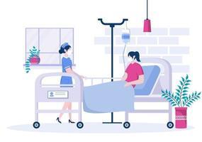 médico ou enfermeiro em máscara facial ajudando um paciente, o enfermeiro empurra a cadeira de rodas com homem deficiente. concentração de pessoal médico vetor