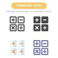 pacote de ícones da calculadora isolado no fundo branco. para o design do seu site, logotipo, aplicativo, interface do usuário. ilustração de gráficos vetoriais e curso editável. eps 10. vetor