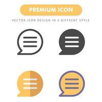 pacote de ícones de bate-papo isolado no fundo branco. para o design do seu site, logotipo, aplicativo, interface do usuário. ilustração de gráficos vetoriais e curso editável. eps 10. vetor