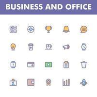 pacote de ícones de negócios isolado no fundo branco. para o design do seu site, logotipo, aplicativo, interface do usuário. ilustração de gráficos vetoriais e curso editável. eps 10. vetor