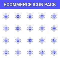 pacote de ícones de comércio eletrônico isolado no fundo branco. para o design do seu site, logotipo, aplicativo, interface do usuário. ilustração de gráficos vetoriais e curso editável. eps 10. vetor