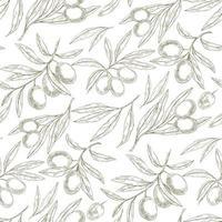 padrão de esboço verde-oliva vetor
