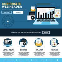 Cabeçalho da Web Corporativo vetor