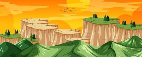 natureza paisagem paisagem vista do topo de uma montanha vetor