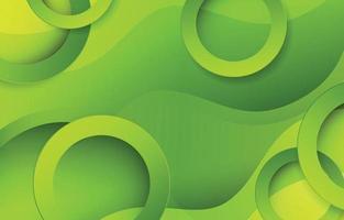 onda abstrata verde com elemento de círculo vetor