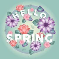 Olá, flores da primavera, saudações