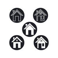 vetor de design de logotipo e símbolo para casa
