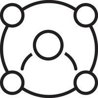 ícone de linha para link vetor