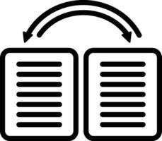 ícone de linha para dados vetor