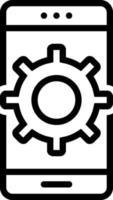 ícone de linha para personalizar vetor