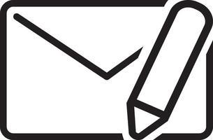 ícone de linha para mensagem vetor