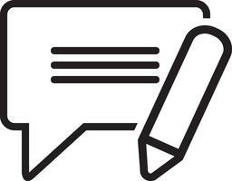 ícone de linha para sms vetor