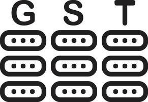 ícone de linha para gst vetor