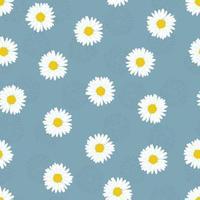 padrão sem emenda de flor de camomila. padrão de primavera simples para tecido e papel de embrulho.