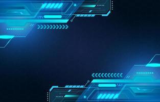 fundo azul futurista de tecnologia digital vetor