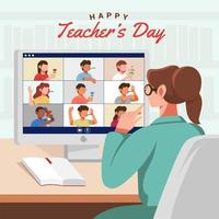 festa virtual do dia do professor vetor