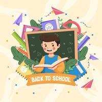 design plano de volta às aulas vetor