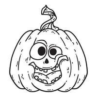 abóbora sorridente de halloween. vetor