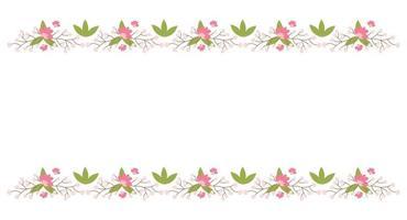 elementos de borda floral. flor botânica linda moldura de primavera vetor